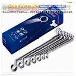 Head stop 75° offset ring wrench set