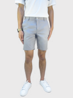 กางเกงขาสั้นชาย สีเทาอ่อน