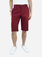 กางเกงขาสั้นชาย ระดับเข่า สีเลือดหมู