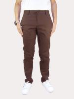 กางเกงขายาว กางเกงชิโน่ ผ้ายืด สีน้ำตาล