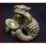 สิงห์จีน(ฟูด๊อก)ทองเหลือง สูง 6 cm.