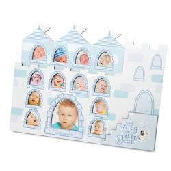 1st Year Musical Photo Frame Castle - Blue