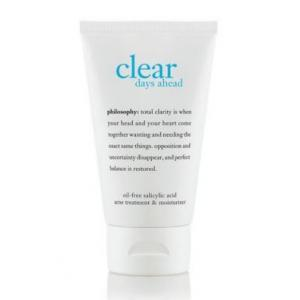 Philosophy clear days ahead oil-free salicylic acid acne treatment & moisturizer [60ml/2oz][In Box] ทรีทเม้นต์และมอยส์เจอร์ไรส์เซอร์ ที่ช่วยให้ผิวขาวกระจ่างใส และชุ่มชื้นโดยปราศจากความมันบนใบหน้า