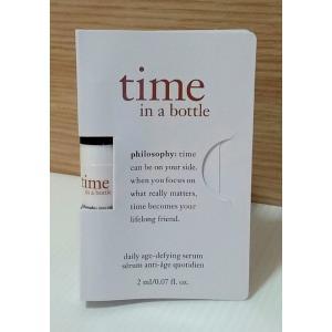 Philosophy time in a bottle daily age-defying serum [2ml] เซรั่มต่อต้านริ้วรอย ช่วยยืดอายุผิว ช่วยปกป้องผิวเพิ่มความแข็งแรง ผิวกระจ่างใส เต่งตึง ไร้ริ้วรอยเรียบเนียน แลดูอ่อนวัย