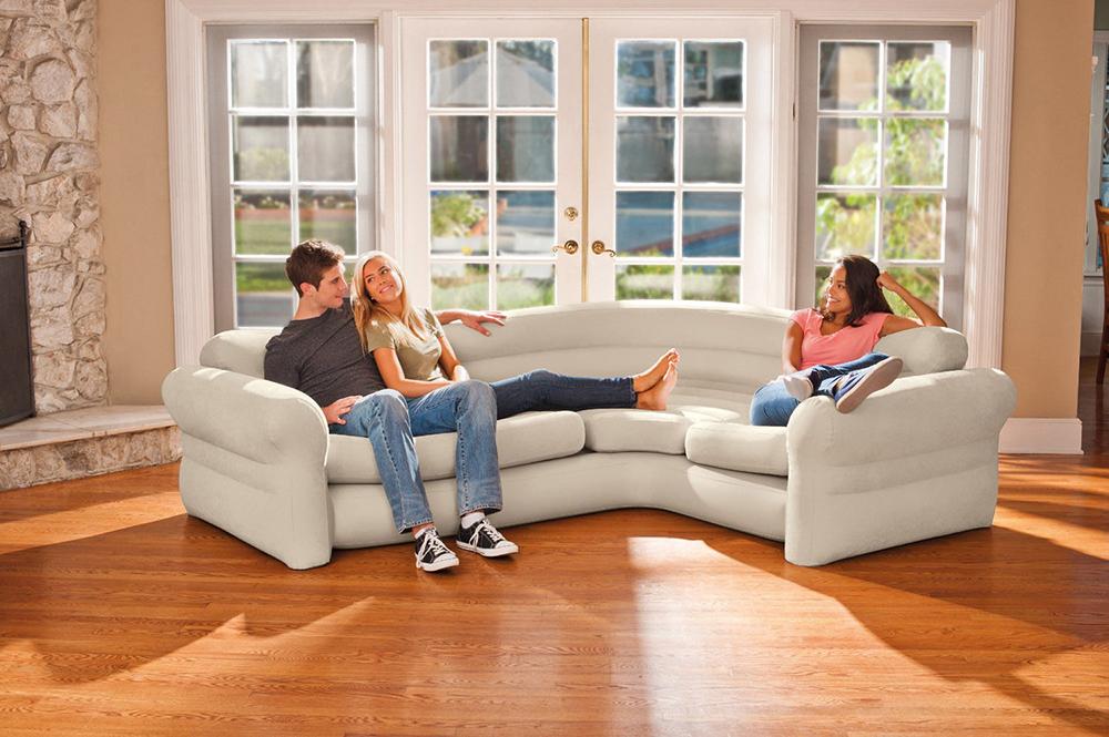 Intex 68575 โซฟาเป่าลมราคาส่ง Corner Sofa