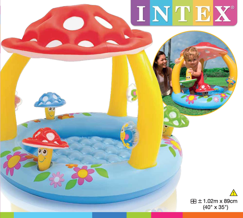 Intex สระว่ายน้ำเด็กเล็ก รูปดอกเห็ด