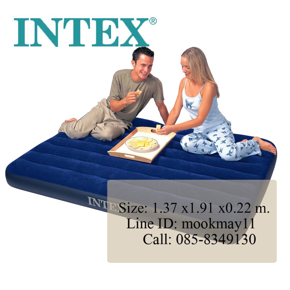 Intex Classic Downy Bed Full ที่นอนเป่าลม 4.5 ฟุต สีฟ้า 68758