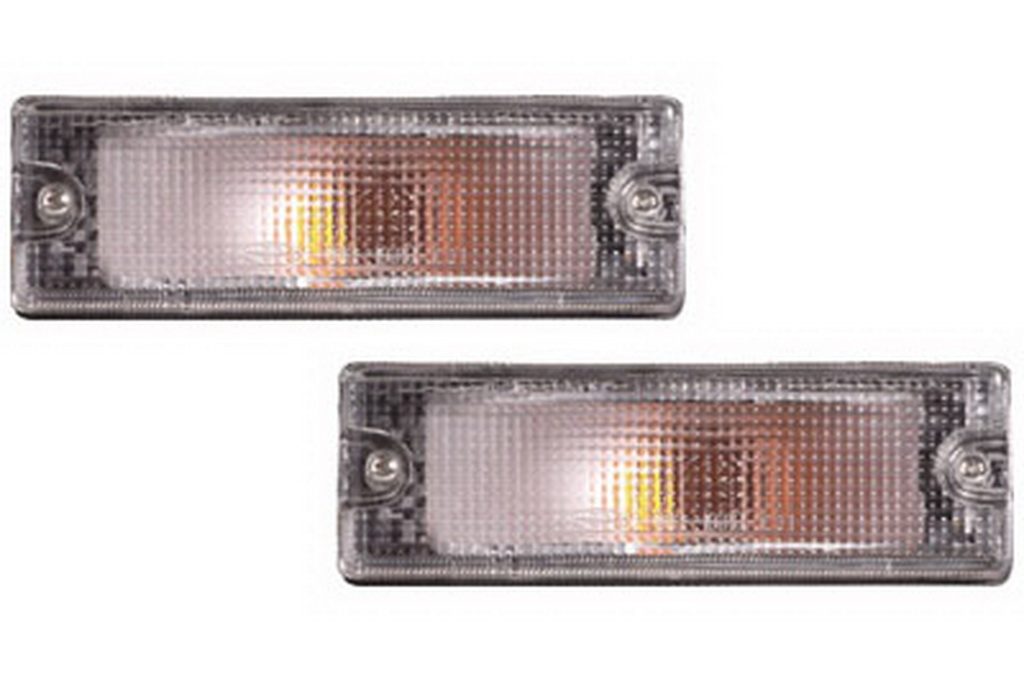 02-235 R/L Clear Front Direction Indicator Lamp, Clear Lens