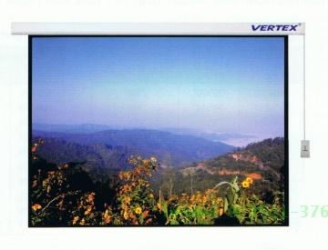 จอฉายแบบมอเตอร์ไฟฟ้า Vertex ขนาดทแยงมุม 200 นิ้ว(16:10)
