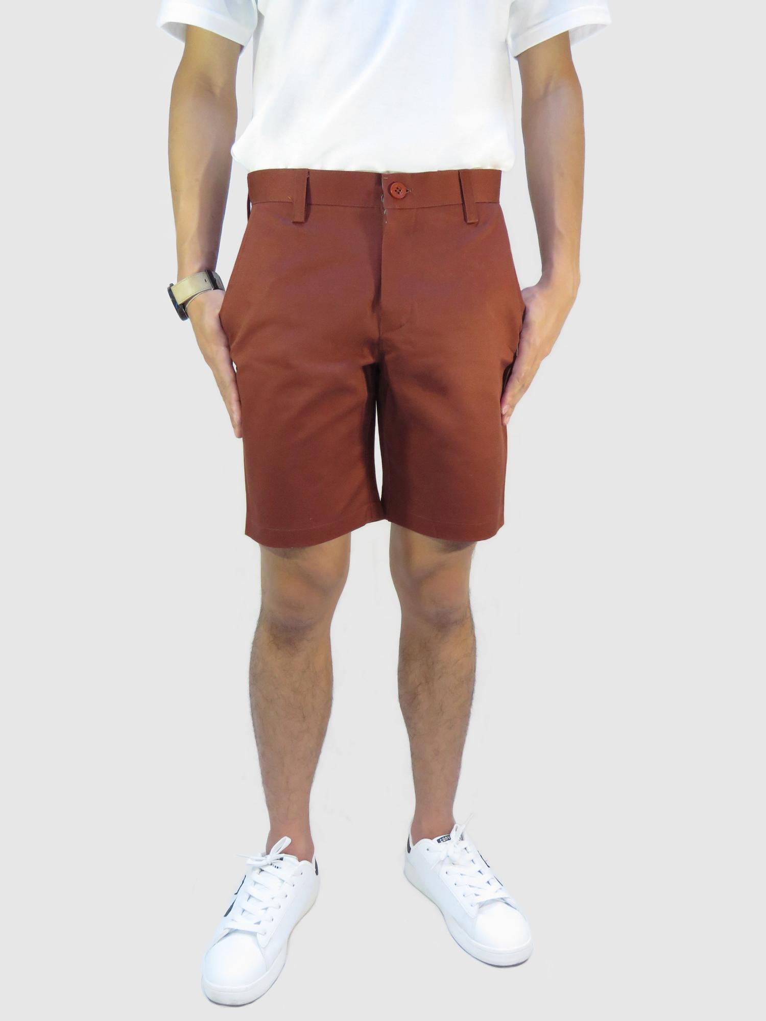 กางเกงขาสั้นชาย สีน้ำตาล