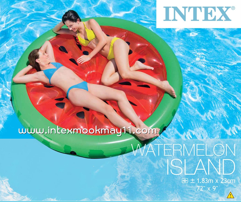 Intex Watermelon Island แพยางเป่าลมแฟนซี ลายแตงโม 56283