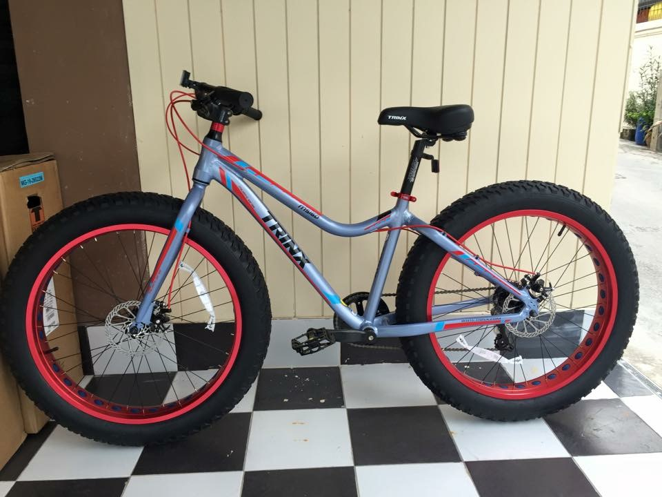 จักรยานล้อโต TRINX รุ่น MS160 สีเทา ล้อ 26 นิ้ว เกียร์ 7 สปีด เฟรมอลูมิเนียม
