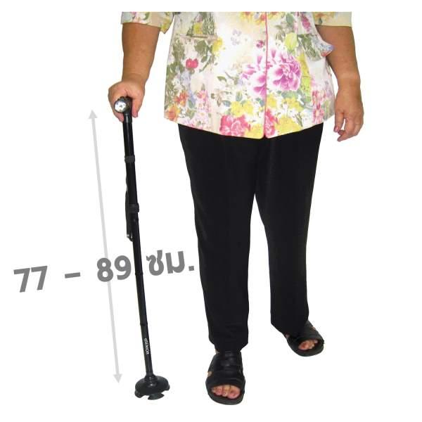 ไม้เท้าพับได้ กล่องเขียว ช่วยพยุง ช่วยเดิน ผู้สูงอายุ ผู้ป่วย ราวเตียง กันตก กันลื่น rollator ร้านขายราคาถูก