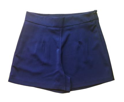 กางเกงขาสั้นเอวสูงผ้าฮานาโกะ สีกรม กระเป๋าขวา ซิปซ้าย Size 2XL 3XL