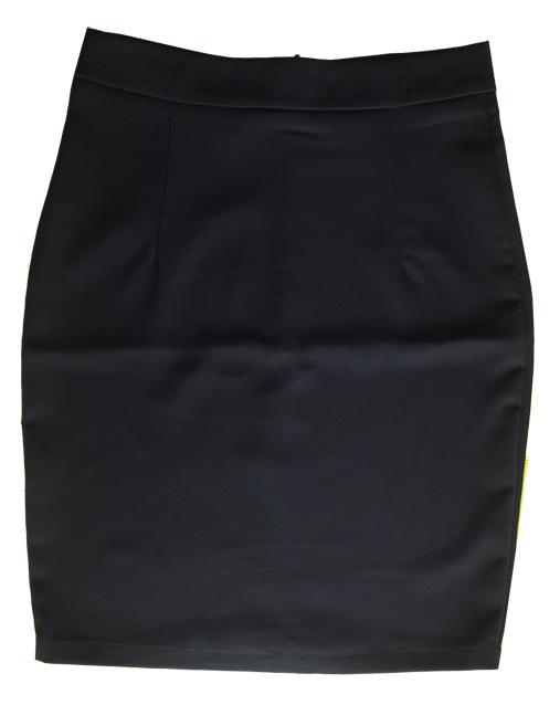 กระโปรงผ้าฮานาโกะ ทรงดินสอ สีดำ Size 2XL 3XL