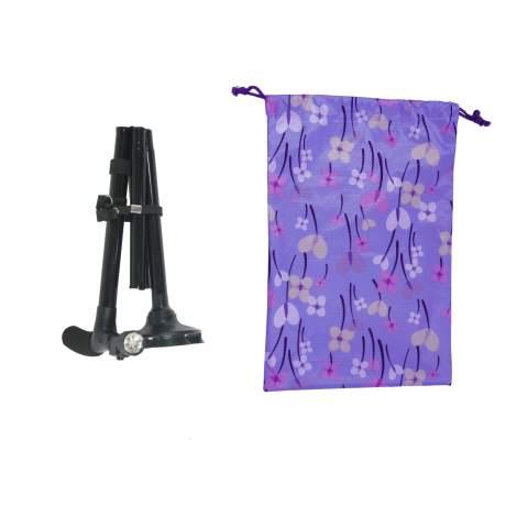 การพับไม้เท้า พับได้ เพื่อใส่ถุงผ้าใบกันน้ำ เหมาะกับผู้สูงอายุ ร้านมีขายในราคาถูก