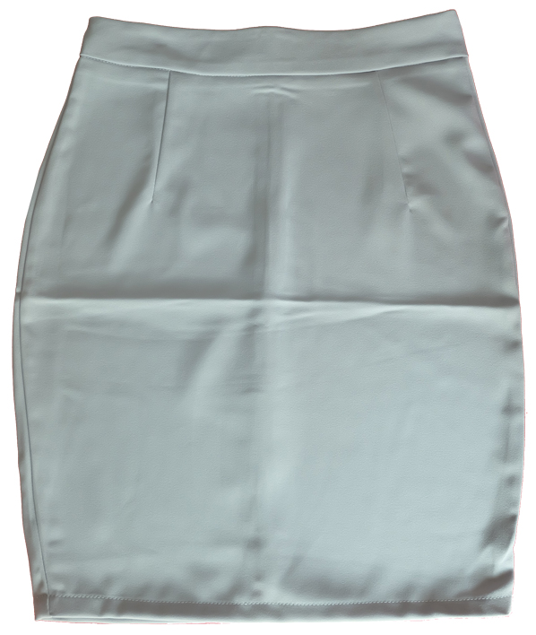 กระโปรงผ้าฮานาโกะ ทรงดินสอ สีเทา Size 2XL 3XL