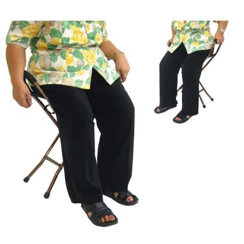 รูปการใช้ไม้เท้าเก้าอี้ พับได้ ขณะผู้สูงอายุนั่ง ร้านมีขายในราคาถูก
