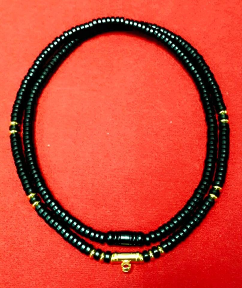 สร้อยกะลาสลับทองคำแท้+เม็ดทองคำแท้ 4.5 มิล 14 เม็ด+ข้อกลางทองคำขนาด 10 มิล