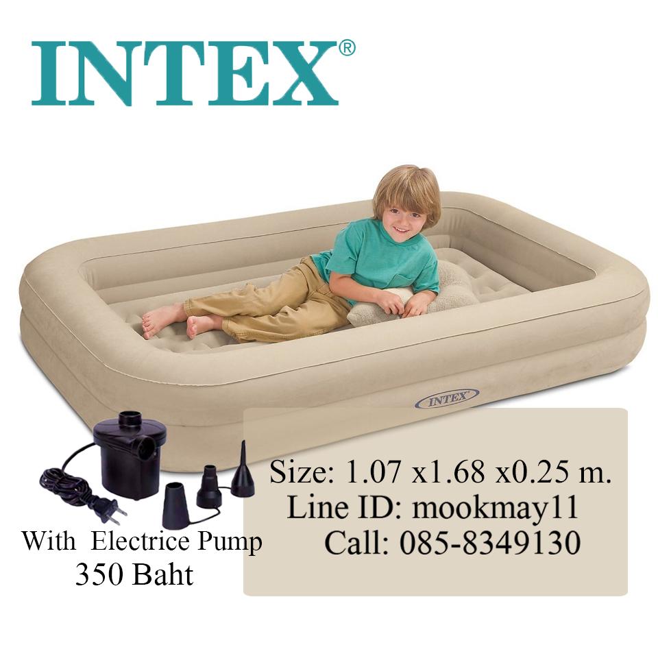 Intex Kidz Travel Set with hand Pump ที่นอนเด็ก พร้อมสูบลมไฟฟ้า 66810