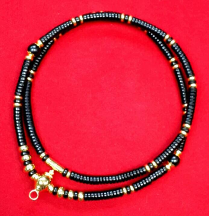 สร้อยกะลาสลับทองคำแท้เม็ดไม้มงคล : หัวขุนทองคำขนาด 11.0 มิล + เม็ดทองรวม 42 เม็ด