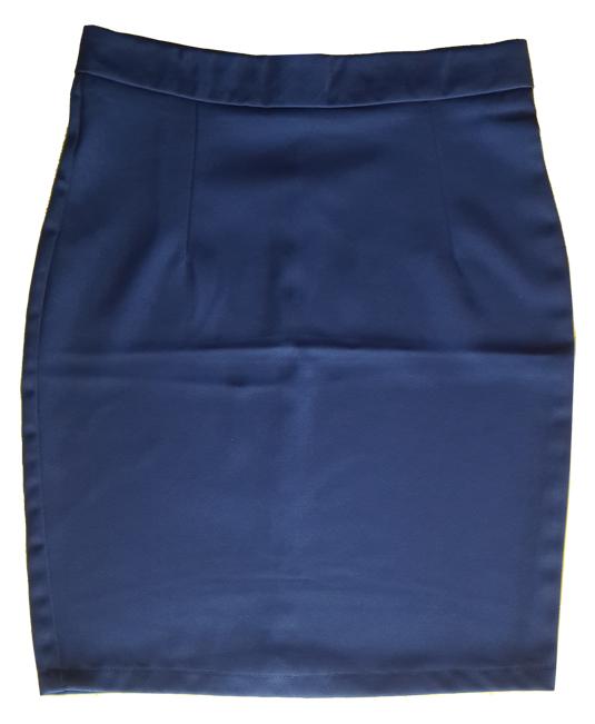 กระโปรงผ้าฮานาโกะ ทรงดินสอ สีกรม Size S M L XL