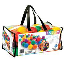 เซ็ตลูกบอลคละสี 100 ลูก จาก INTEX (สำหรับบ้านบอล) Size 6.5cm รหัส 49602