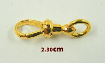 สปริงก้ามปูทองคำแท้ 90% แบบไม่หมุน ขนาด 2.3ซม.