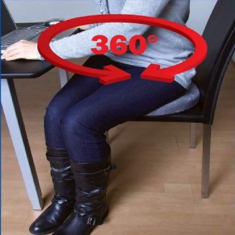 ภาพเสดงการหมุนของเบาะเก้าอี้นั่ง เหมาะกับผู้สูงอายุ ผู้ป่วย ปวดหลัง ปวดเข่า ร้านมีขายในราคาถูก