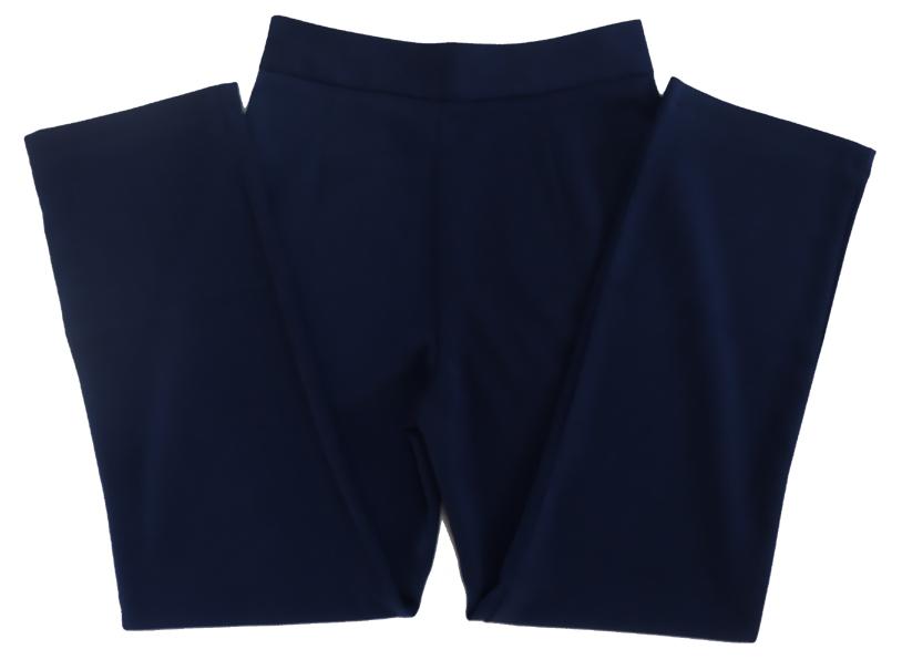 กางเกงขายาวผ้าฮานาโกะ ขากระบอกเอวสูง สีกรมท่า Size S M L XL