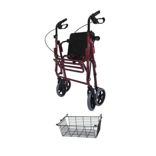 รถเข็ดหัดเดิน ช่วยเดิน Rollator รุ่น 46L เหมาะกับผู้สูงอายุ ผู้ป่วย ร้านมีขายในราคาถูก