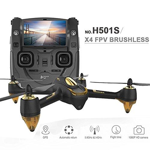 โดรน Hubsan H501S x4 บินไกล 1 KM. บินนาน 20 min.มีจอ 5.8G FPV Brushless กล้อง1080P GPS Follow Me Mode