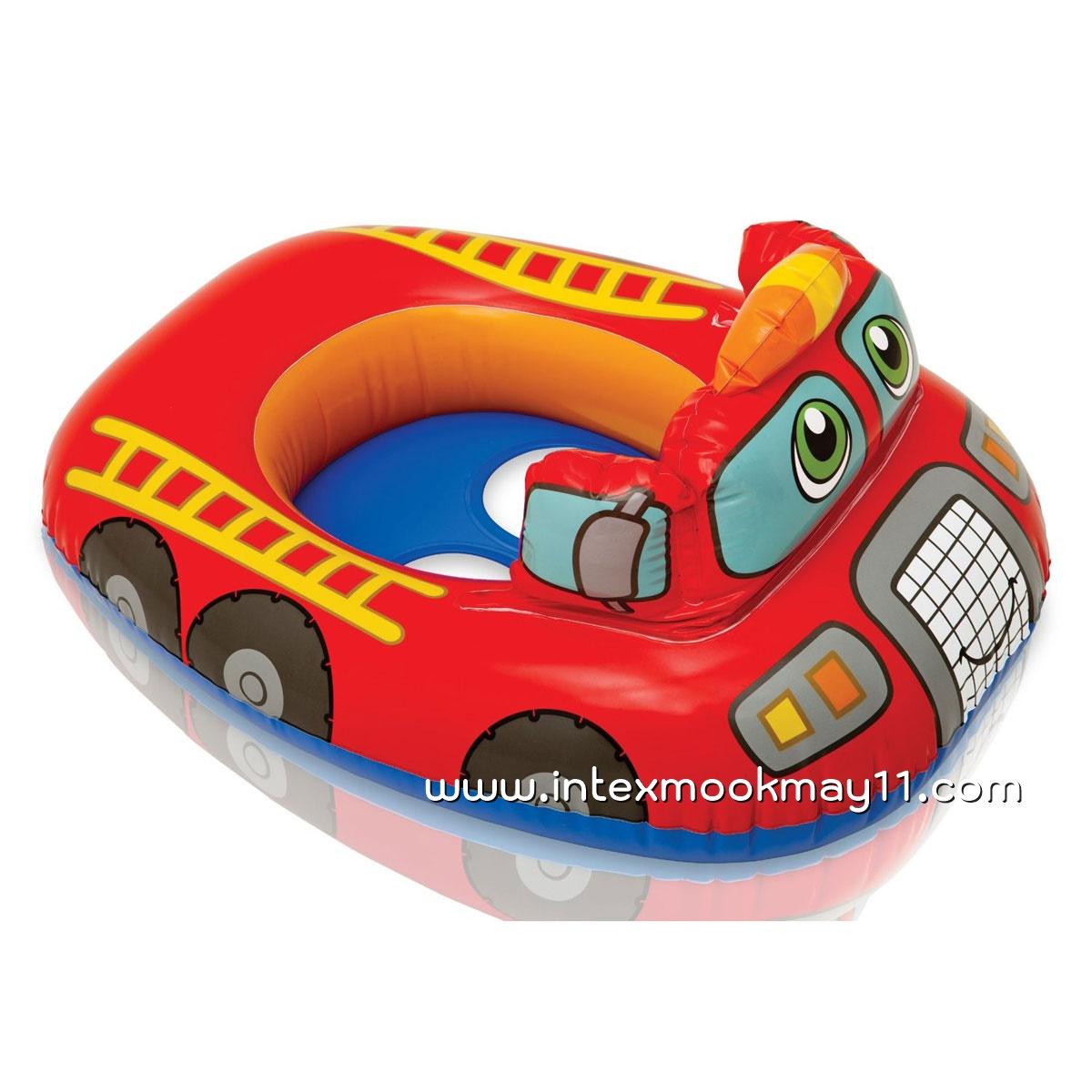 Intex Kiddie Car Float ห่วงยางสอดขาลายรถดับเพลิง 59586