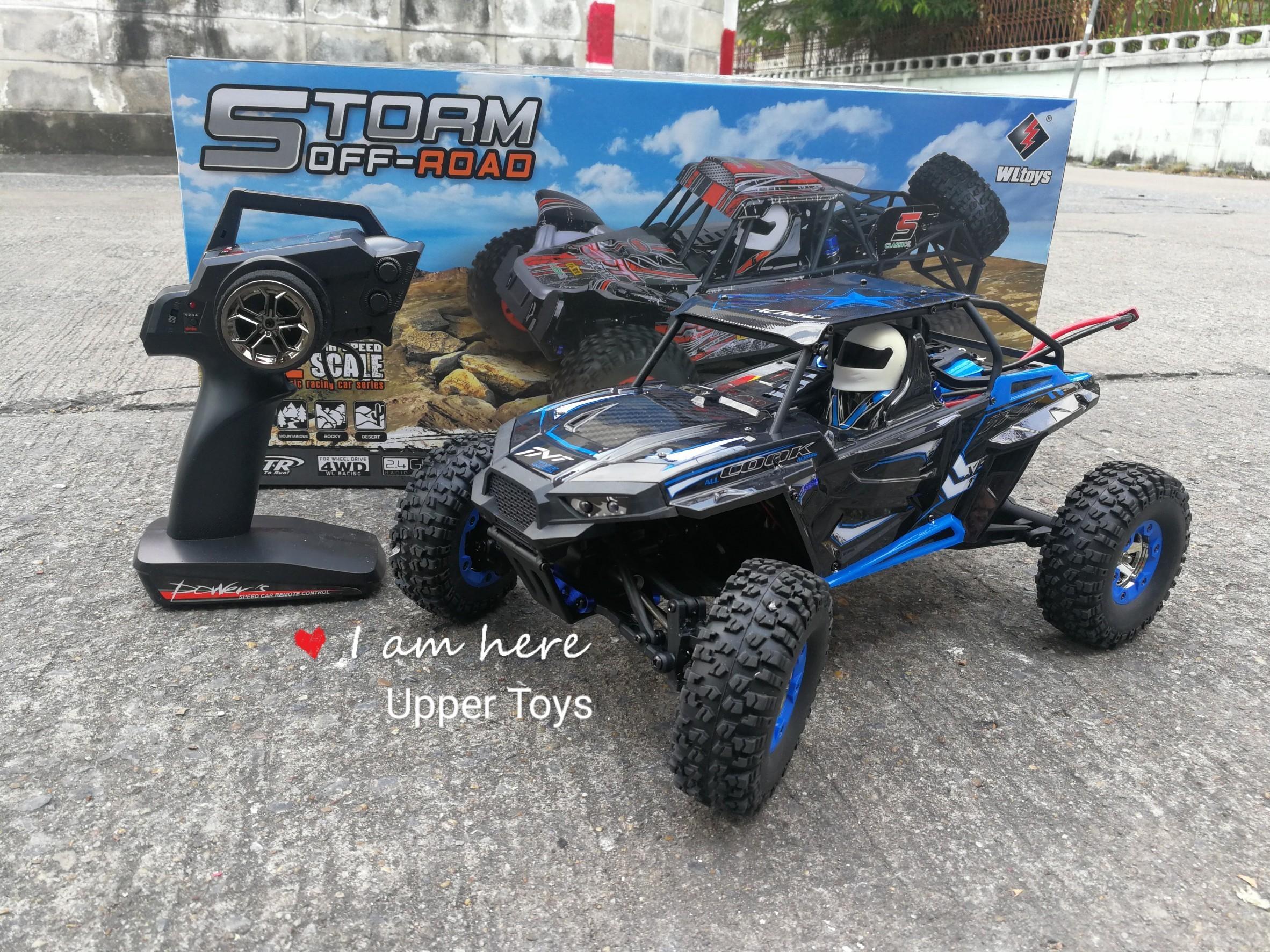 รถบังคับ WL toy Storm off Road 50km/h (รีโมทดิจิตอล) 1:12 สีแดง/ดำ