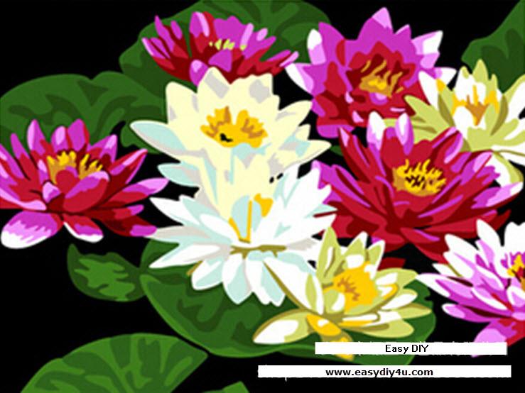 ภาพวาดดอกบัว