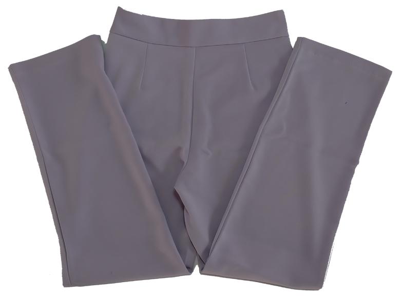 กางเกงขากระบอกเอวสูง ผ้าฮานาโกะ สีม่วงพาสเทล Size S M L XL สำเนา