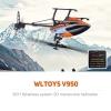 WLtoys V950 ฮอร์บินตีลังกา 2.4G 6CH 3D6G มอเตอร์บลัสเลส (Brushless)