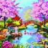 ภาพสีน้ำวิวสวนสวย