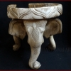 ไม้แกะสลักช้างสามเศียร2 (ชำรุด) สูง 20.5cm.