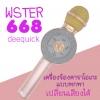 wster ไมค์คาราโอเกะ เปลี่ยนเสียงได้ ไฟดิสโก้ 5W รุ่น WS-668
