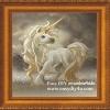 อุปกรณ์ DIY ครอสติสคริสตัลรูปสัตว์ในเทพนิยายม้ายูนิคอร์น (เล็ก)