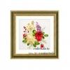 งานปักริบบิ้น (Ribbon embroidery) รูปดอกไม้คลาสิค 4 By Easy DIY ครอสติสคริสตัล