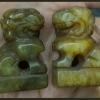 สิงโตจีนหินแกะ สูง 3.7cm. คู่ละ