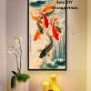 ปลานำโชค อุปกรณ์ทำภาพครอสติสคริสตัลรูปปลานำโชค คริสตัลติดเต็มภาพ