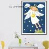 อุปกรณ์งานฝีมือ DIY ครอสติสคริสตัลรูปภาพวาดนางฟ้า sweet dream