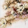 นกแสนสวยเกาะบนกิ่งไม้