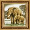 อุปกรณ์งานฝีมือ DIY ครอสติสคริสตัลรูปช้าง คริสตัลติดเต็มแผ่น
