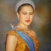 ภาพวาดพระราชินีสวมมงกุฎ (ใหญ่)
