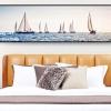 เรือใบแสนงาม อุปกรณ์ทำภาพครอสติสคริสตัลรูปเรือใบ คริสตัลเม็ดเหลี่ยมติดเต็มภาพ