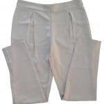 กางเกงขายาวผ้าฮานาโกะ ขาเดฟเอวสูงจีบทวิตหน้า สีเทา Size S M L XL สำเนา